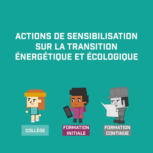 Actions de sensibilisation sur la transition énergétique et écologique